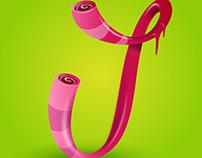 """Candy letter 3D """"L"""""""