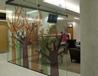 Glass Mural: Kent Institute of Medicine & Surgery