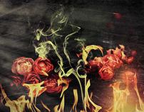 Fuego y flores