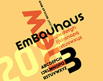 EmBauhaus New Font from Emboss Fonts