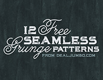 12 Free Grunge Seamless Patterns