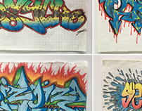 Classic Graffiti sketches
