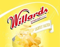 WILLARDS CHIPS - STRAIGHT CUT - PACKAGING CONCEPT