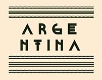 ARGENTINA TYPOGRAPHY