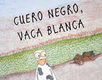 Cuero negro, vaca blanca