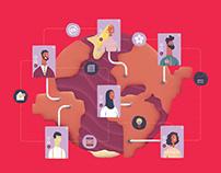 IBM Social Brand - Illustration series