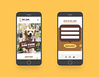 Big Dog Pet Foods: Website