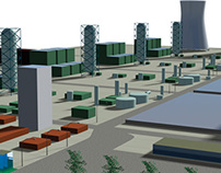 3D model of proposed powerplant