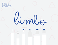Bimbo free type family - 6 weights of monoline fun