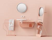 INBANI Bowl Bathroom Furniture Set 7 | 3D Model