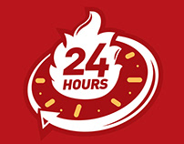 Kenny Rogers Roasters 24 Hours Logo