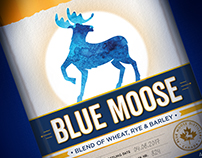 Blue Moose label design