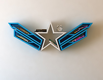 Captain America, bookshelf, logo, shelf, interrior