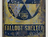 Fallout Shelter Vintage Sign