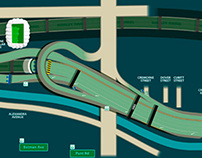 Road schematic of Southern Link
