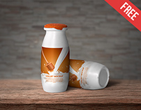 Yogurt Bottle - Free PSD Mockup