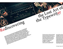 Rediscovering the Lost Art of the Typewriter.