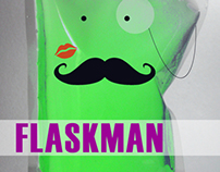 FlaskMan Branding and Advertising Campaign