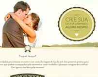 Proposta - Hot Site Lista de Casamento CVC Viagens