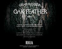 OAK FEATHER. Etiquetas y logotipo