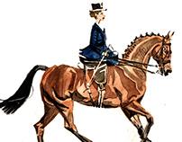 Sidesaddle riding
