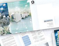 Diseño catálogo empresa tecnología blanca