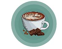 Psikoloji ve Sanat Topluluğu kahve çizimi
