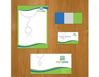 Healthyotta.com stationery Design