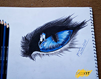 Realistic Eye Drawing | Powered by #SyedArt