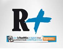 R+ e La Repubblica \ web promotion