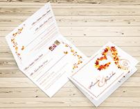 Autumnal Wedding Stationery