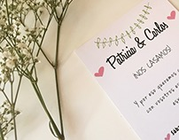 Save the date Patricia&Carlos