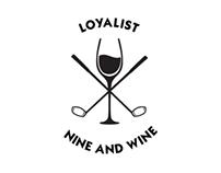 Nine and Wine golf logo