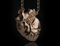 Anatomical Heart Necklace - Tyvodar.com