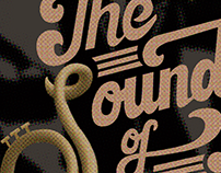 The Sound of Music! typography poster
