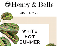 Sale Email Blast for Henry and Belle