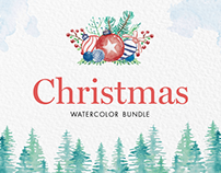 Christmas Watercolor Bundle
