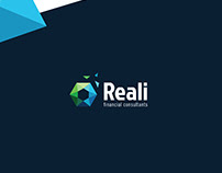 Reali : Financial consultant - Logo design Concepts.