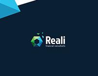 Reali : Financial consultant - Logo design Concepts.