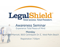 Legal Shield Business Card Design