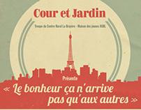 Crlb Cours et Jardin Poster