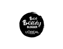 "L'oréal ""Best Beauty BLOGGER"" logo"