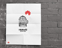 Huawei US- guerilla brand campaign