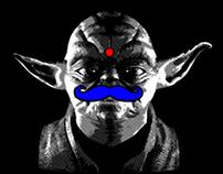 Yoda Moustache // Textile Project