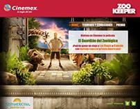 Micrositio zookeeper (cinemex)