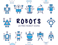 Robot Vector Free Icon Set