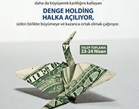 DENGE HOLDİNG - HALKA ARZ KAMPANYASI