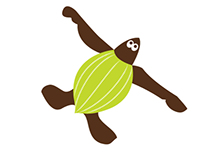 ESPjr Leatherback Turtle Character design