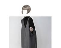 minimal cutout square dress
