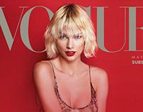 Vogue Wesite Consept Design unofficial